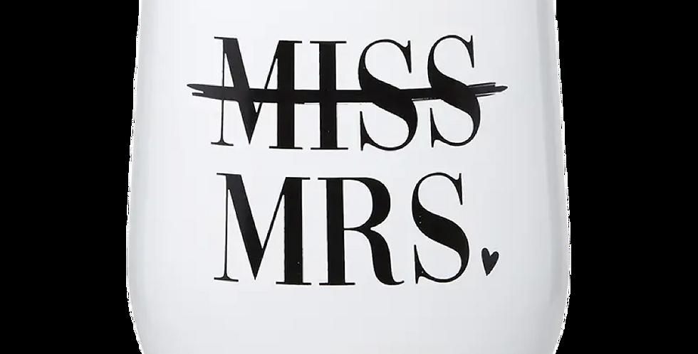 Metal Tumbler: Miss to Mrs.