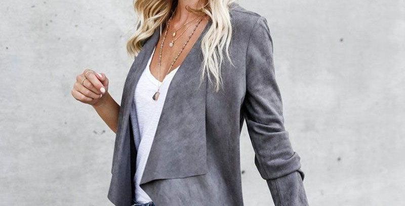 Women Suede Jacket
