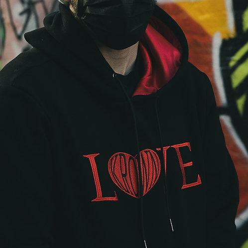LOVE - Satin Lined Hoodie