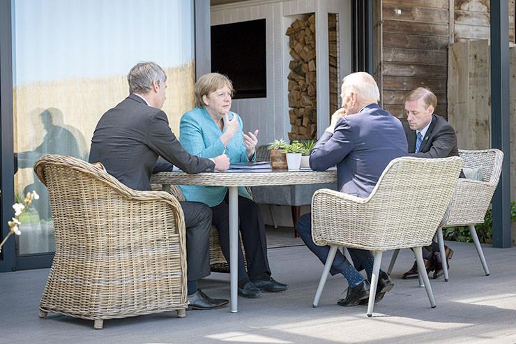 Angela Merkel - Joe Biden - Jan Hecker - Jake Sullivan