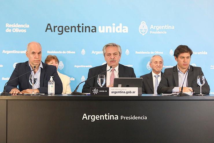 Alberto Fernández - Horacio Rodríguez Larreta - Axel Kicillof