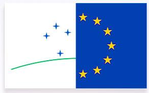 Die Embleme von Mercosur und EU