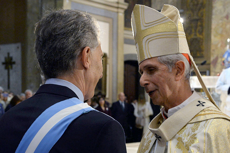 Mario Poli und Mauricio Macri.