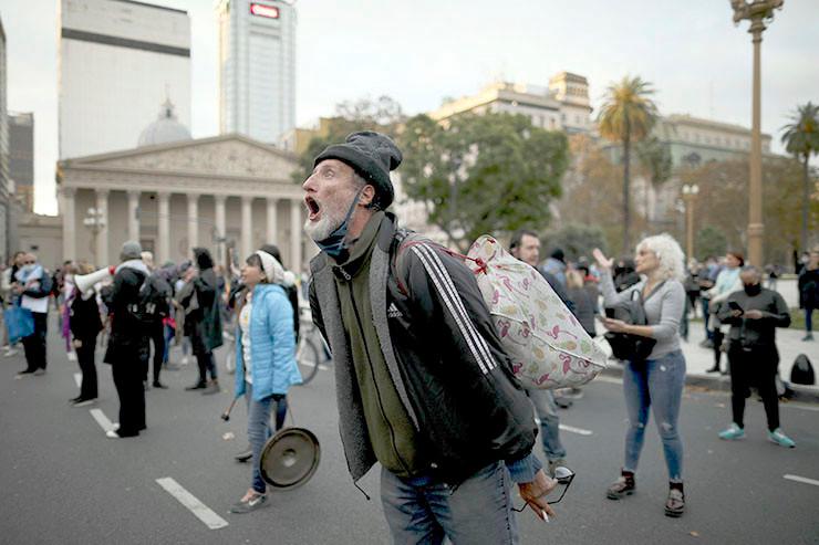 Protest gegen die Quarantäne.