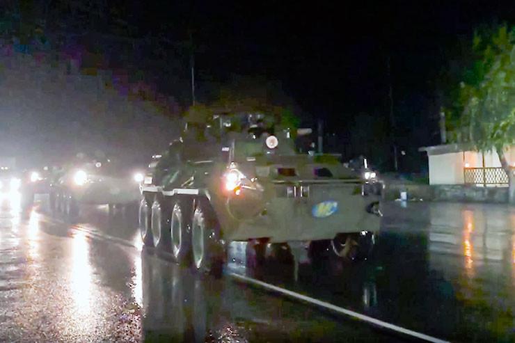 Russische Militärfahrzeuge