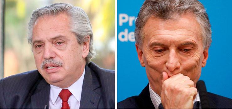 Alberto Fernández und Mauricio Macri