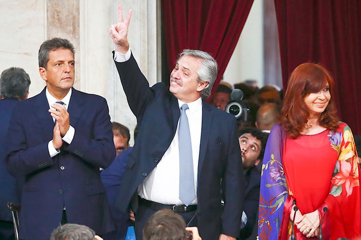 Alberto Fernández - Cristina Kirchner - Sergio Massa.
