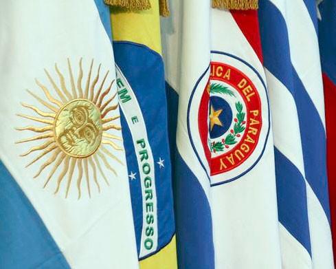 Die Flaggen des Mercosur