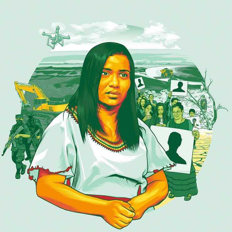 Die Kolumbianerin Angélica Ortiz.