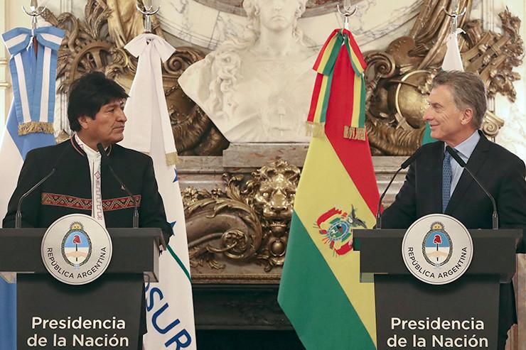 Höflich, aber doch distanziert: Mauricio Macri (r.) und sein Gast Evo Morales.