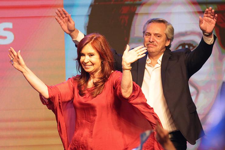 Cristina Fernández de Kirchner und Alberto Fernández.