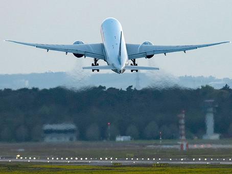 Erholung im internationalen Luftverkehr