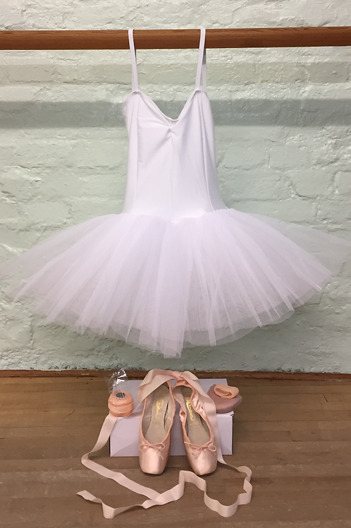 White Eight Layer TUTU