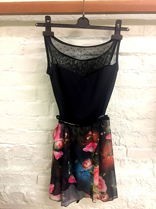 Adult Chiffon Skirt with Roses