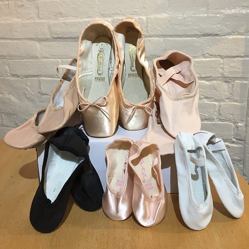 Pink Canvas Stretch Ballet Shoes