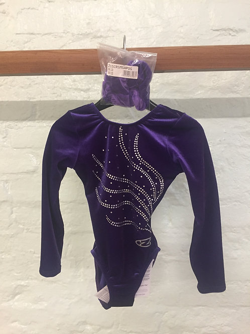 Purple Diamante Leotard