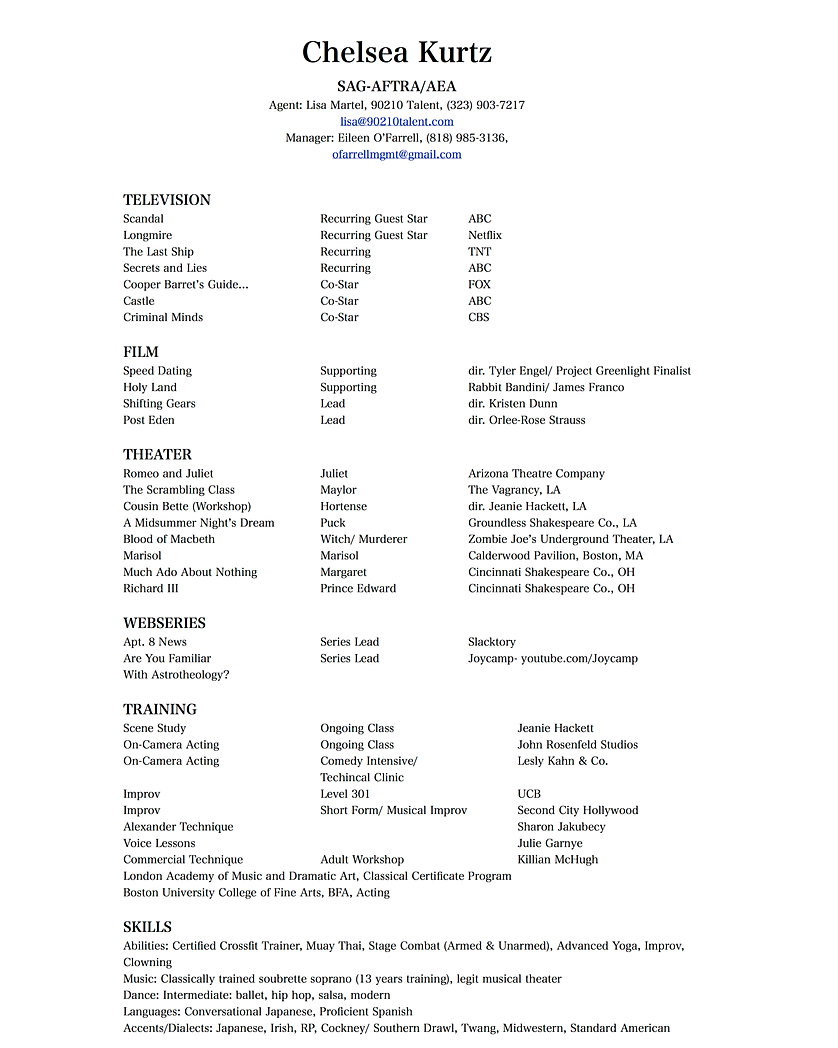 chelsea kurtz resume resume all
