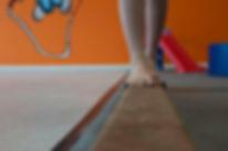 Child on balanc beam