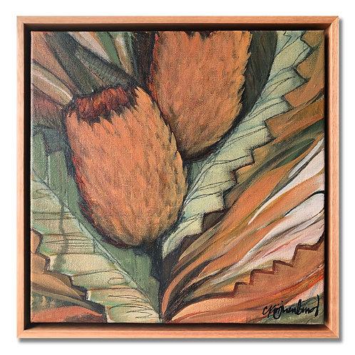 Twin Banksia (Mini) Original Artwork
