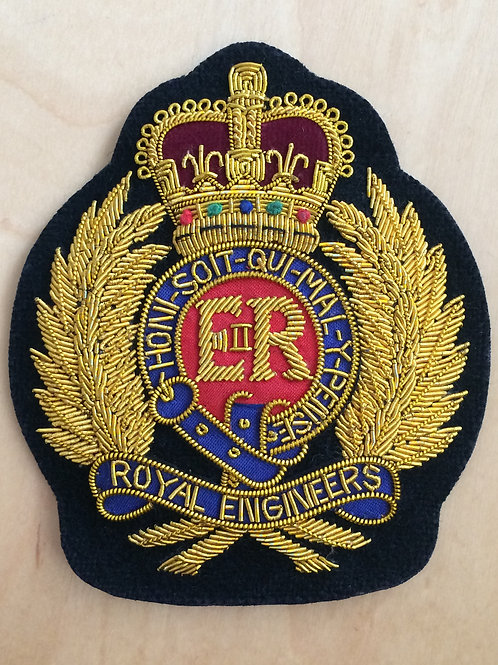 Royal Engineers (RE) gold wired padded Blazer Badge