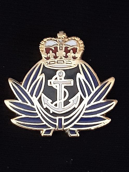 Royal Navy Crown and Anchor lapel pin badge