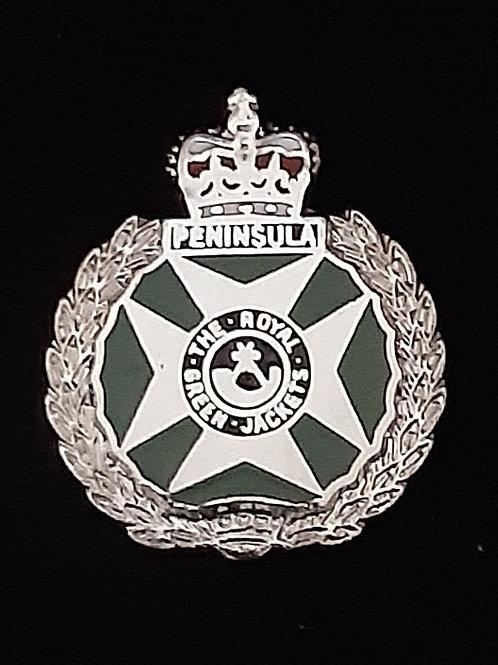Royal Green Jackets (RGJ) lapel pin badge
