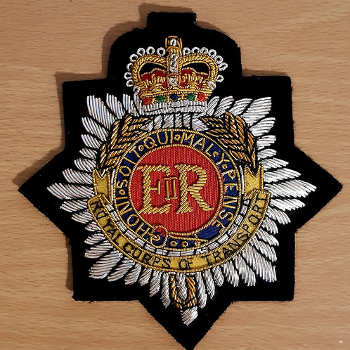 Royal Corps of Transport (RCT) gold wired padded Blazer Badge