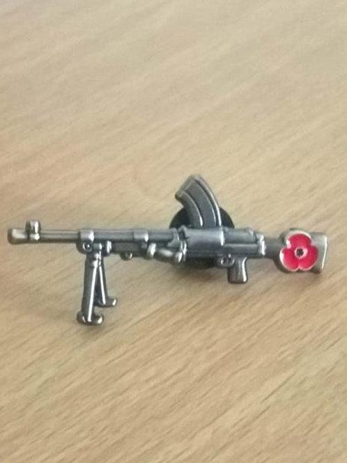 the Bren (Light Machine Gun) Lapel Pin Badge