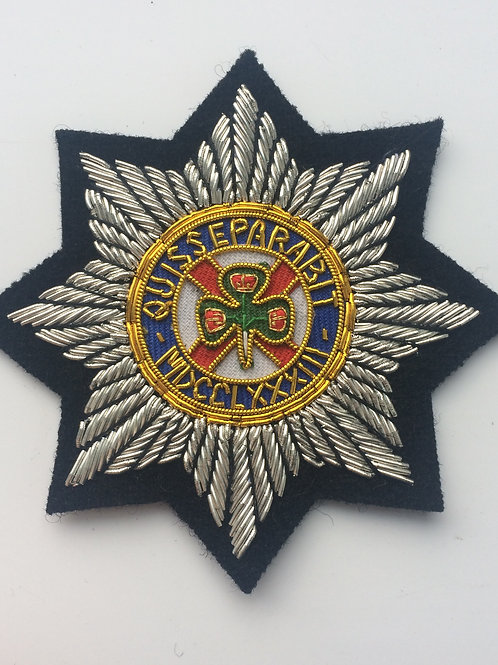 Irish Guards gold wired Blazer Badge