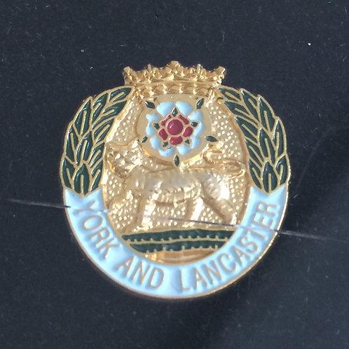 York and Lancaster Regiment lapel pin badge