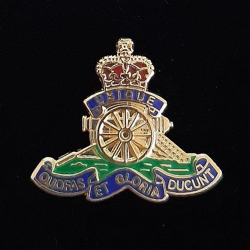 Royal Artillery (RA) lapel pin badge