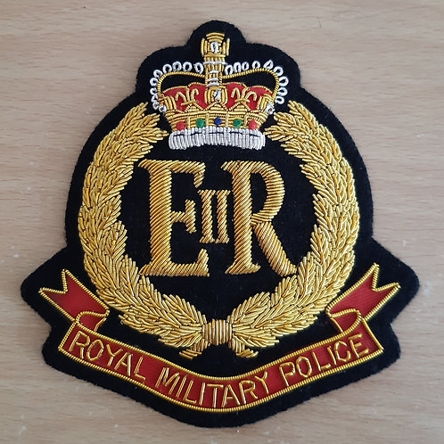 Royal Military Police (RMP) gold wired padded Blazer Badge