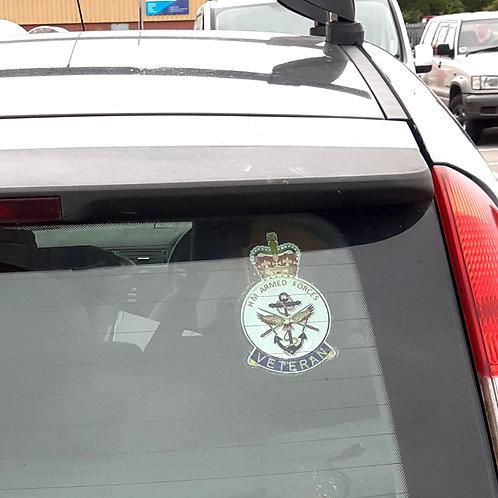 HM Forces Veteran Badge Window Sticker (internal)