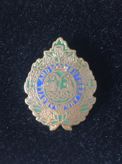 Argylle and Sutherland Highlanders (A&SH) lapel pin badge