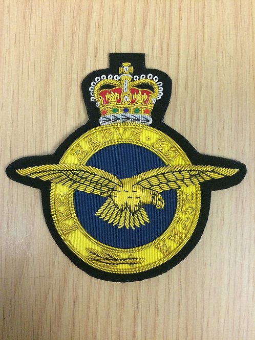 Royal Air Force (RAF) gold wired padded Blazer Badge