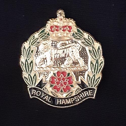 Royal Hampshire Regiment lapel pin badge
