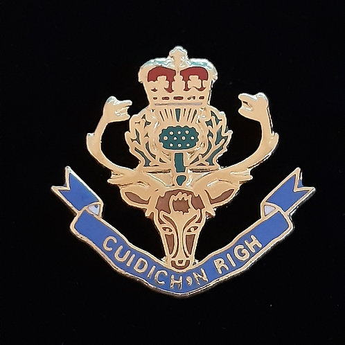 Queens Own Highlanders (QOH) lapel pin badge