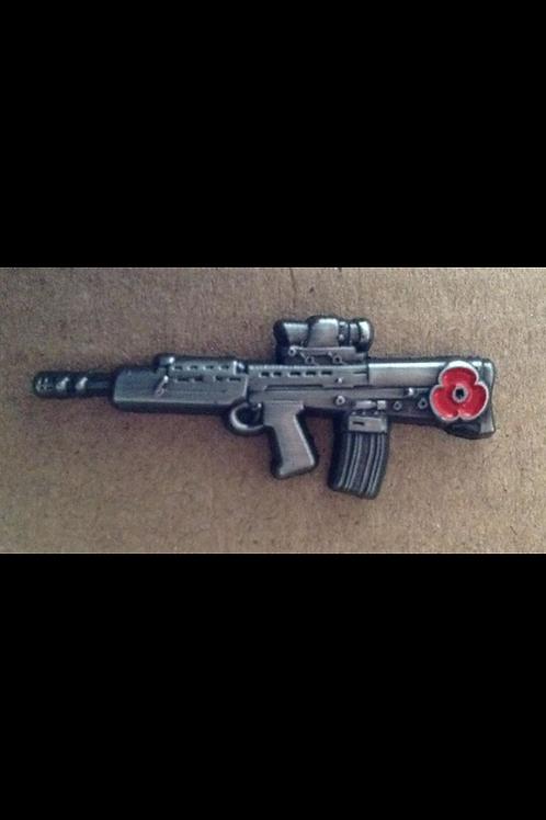 SA80 rifle Lapel Pin Badge