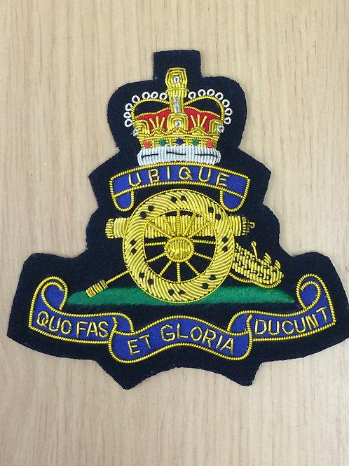 Royal Artillery (RA) gold wired padded Blazer Badge