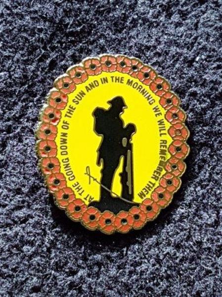Yellow Oval Pin Badge