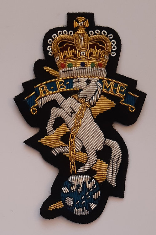 Royal Electrical and Mechanical Engineers (REME) gold wired padded Blazer Badge
