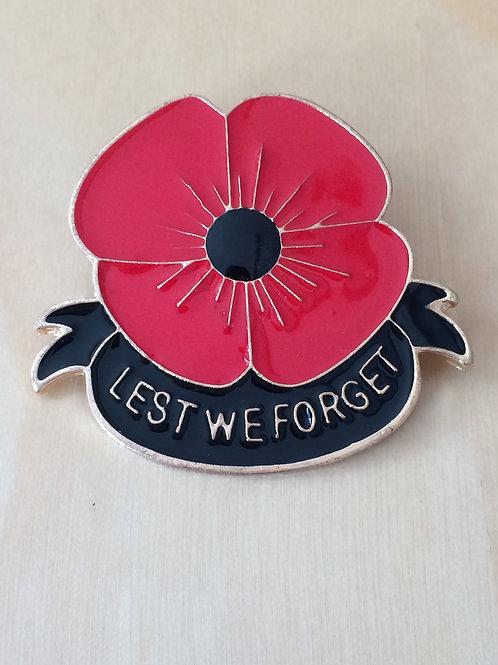 Lest We Forget Lapel Badge