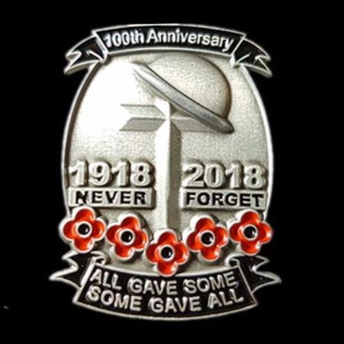 100th Anniversary commemorative pin badge