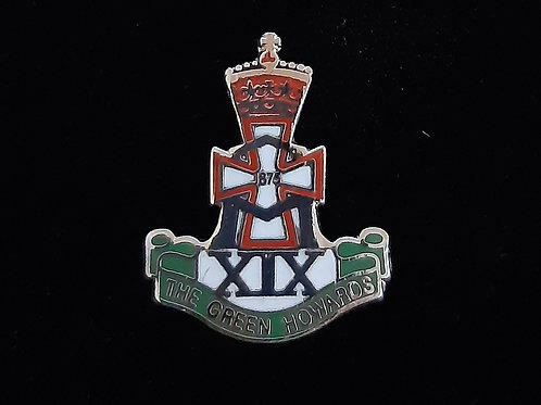 The Green Howards lapel pin badge