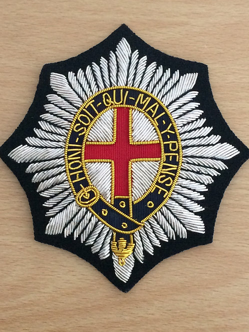 Coldstream Guards gold wired padded Blazer Badge