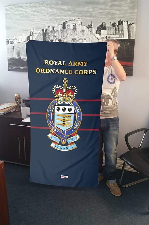 Royal Army Ordnance Corps (RAOC) Printed Beach Towel