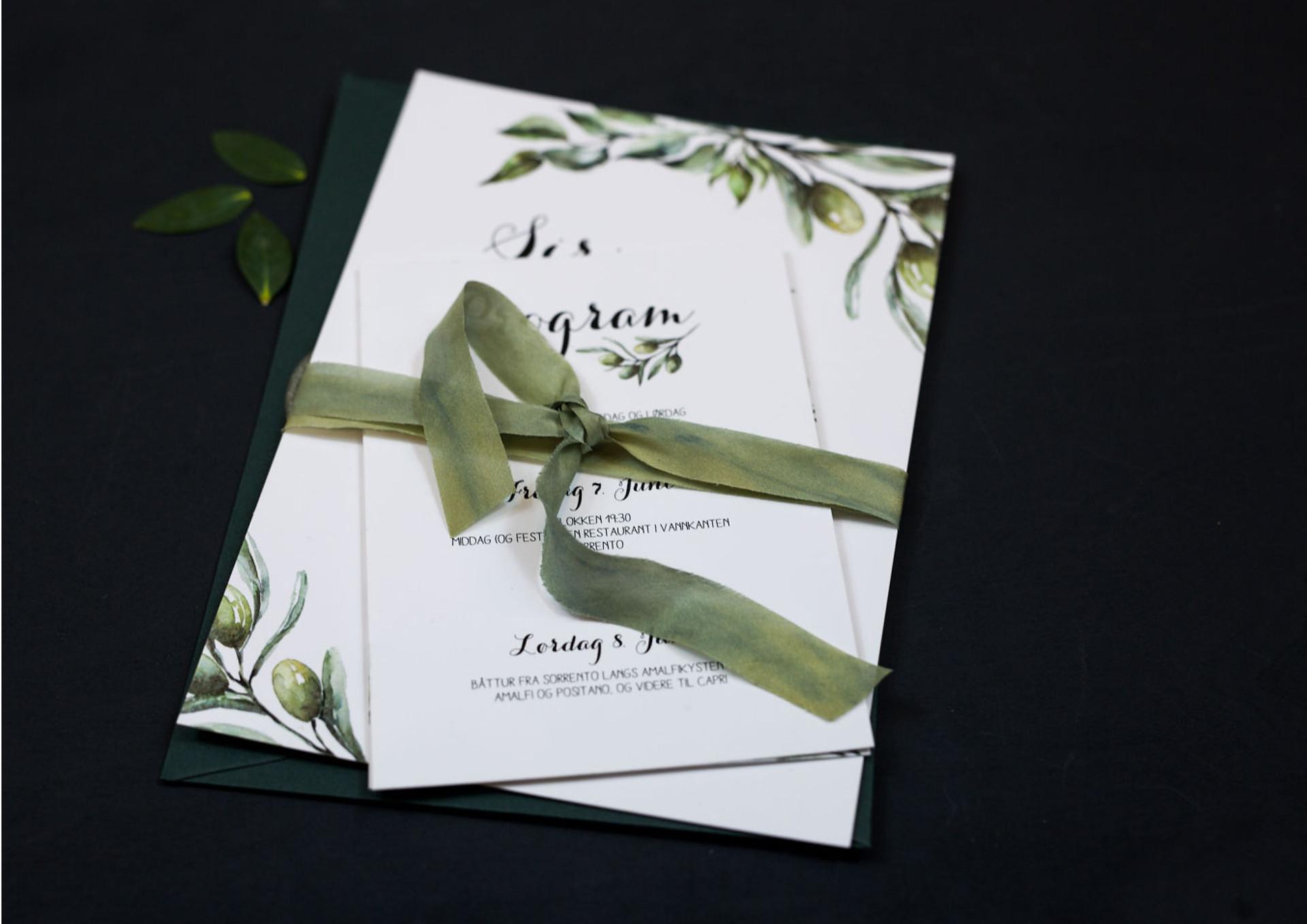 Bryllupsinvitasjoner - Olive Garden