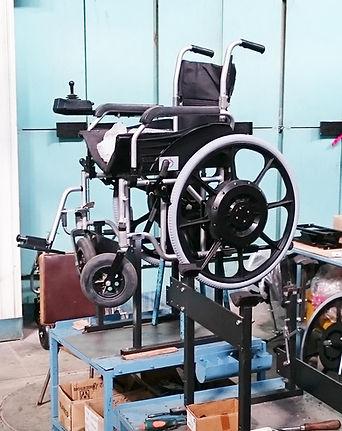 Ремонт инвалидных колясок на производстве