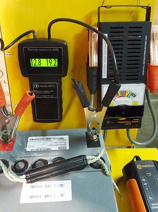 Проверка остаточной ёмкости  аккумуляторной батареи Майра.
