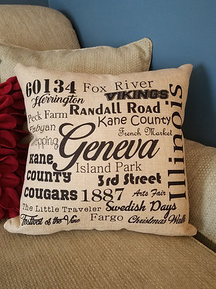 Pillows - Word Collage